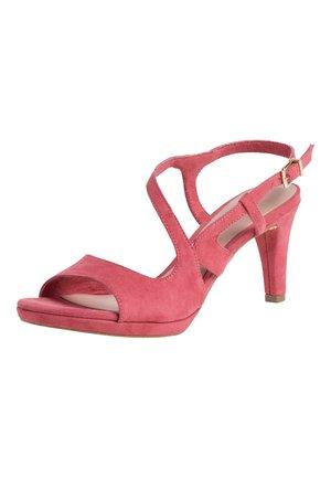 SANDALETTE - Sandaler - pale ruby