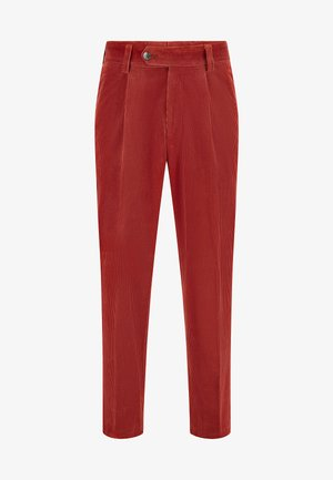 PERIN PLEAT - Trousers - red