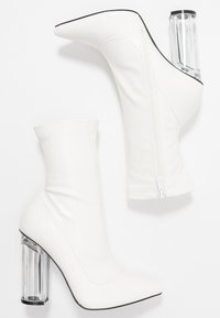 BEBO - HADLEY - High heeled ankle boots - offwhite - 3