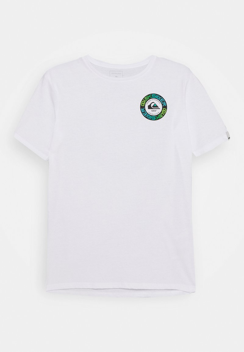 Quiksilver - TIME CIRCLE YOUTH - Print T-shirt - white