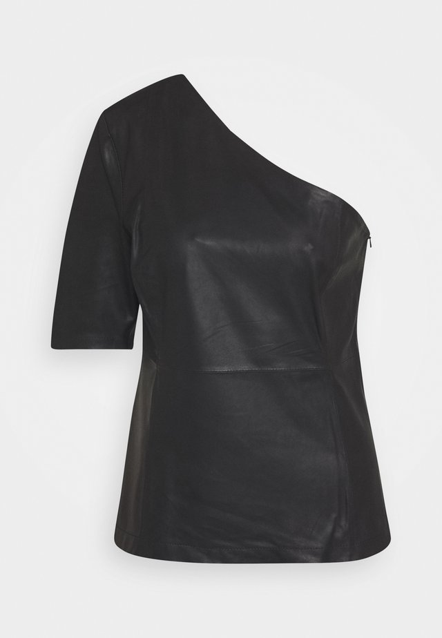 ONE SHOULDER - Blouse - black