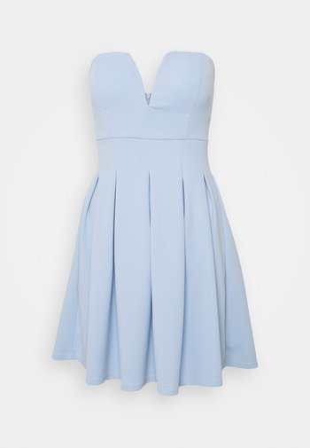 SIMONE CUPPED SKATER DRESS - Cocktailjurk - baby blue
