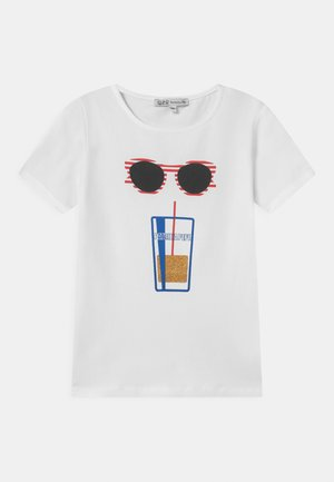 SUNGLASS - Print T-shirt - white