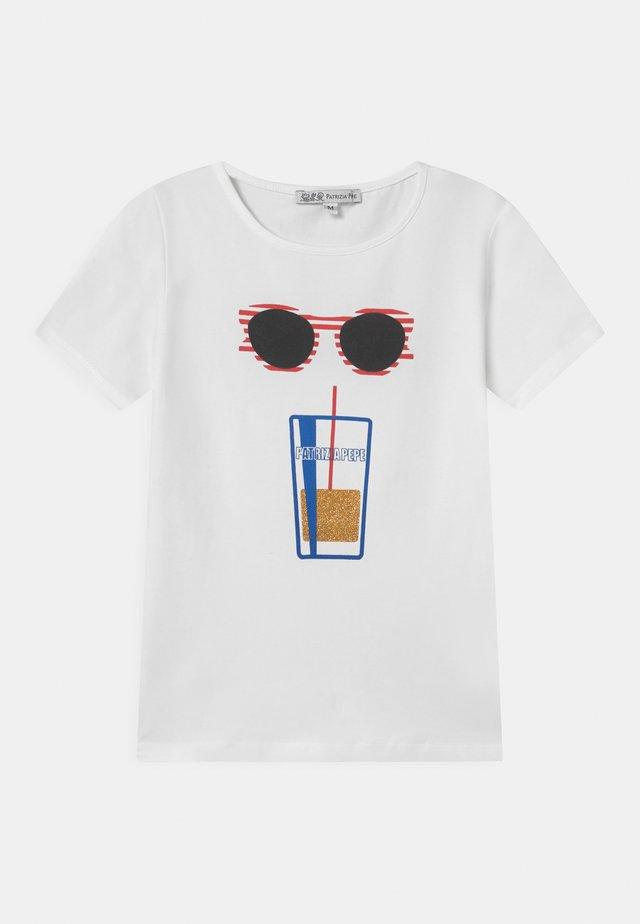 SUNGLASS - Print T-shirt - white