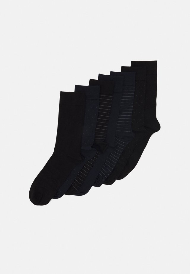 SOCKS 7 PACK - Calze - black/dark blue