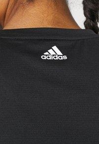 adidas Performance - LOGO TEE - Print T-shirt - black/white - 4