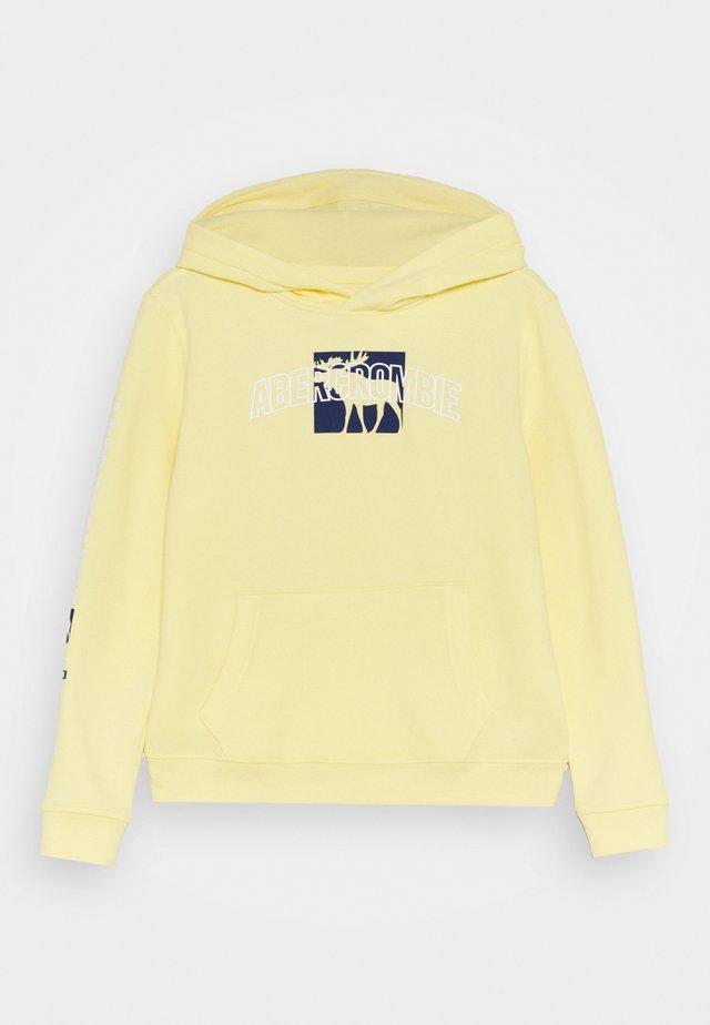 PRINT LOGO - Sweatshirt - pale yellow