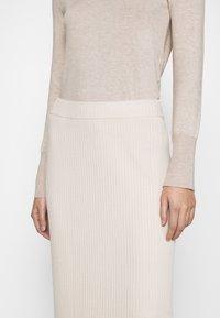 Monki - LOA SKIRT - Pencil skirt - beige - 5