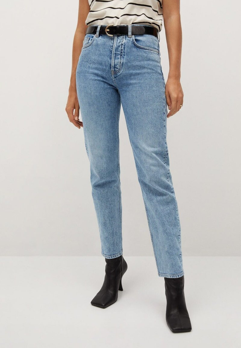 Mango - PREMIUM - Straight leg jeans - mellanblå