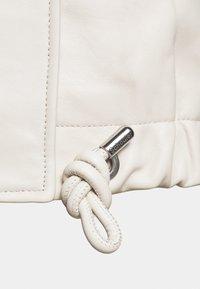 Proenza Schouler White Label - LIGHTWEIGHT DRAWSTRING WAIST JACKET - Leather jacket - ecru - 8