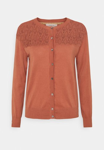 ESSENTIAL - Cardigan - copper brown