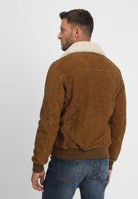 Schott - OFFICIER - Leather jacket - rust - 2