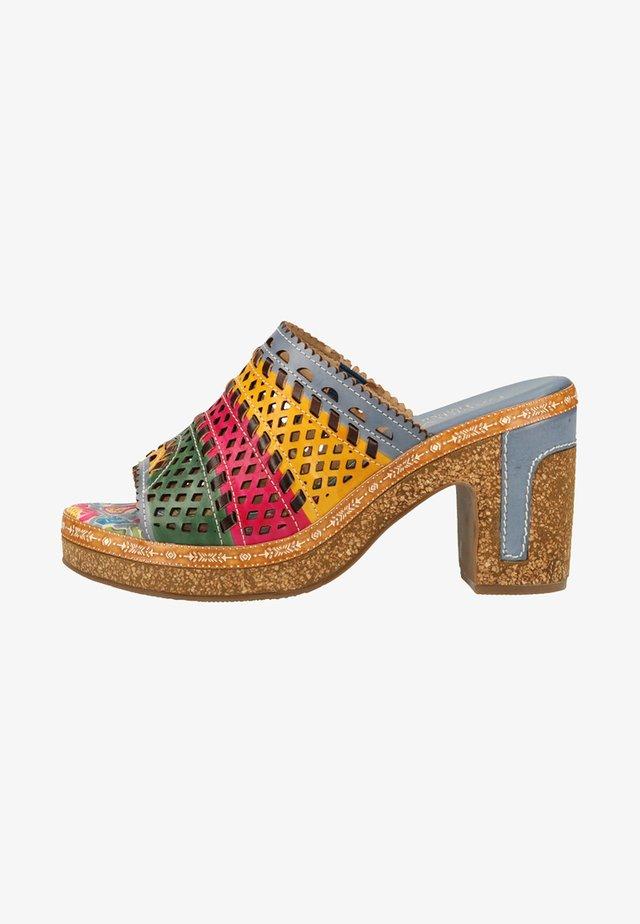 Sandalen met hoge hak - blue