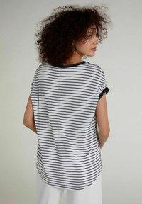 Oui - Print T-shirt -  blue - 2