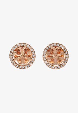 LOGO CIRCLE  EARRING - Náušnice - rose gold-coloured