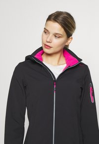CMP - WOMAN JACKET ZIP HOOD - Soft shell jacket - antracite/bouganville - 4