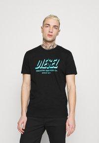 Diesel - DIEGOS UNISEX - Print T-shirt - black - 0