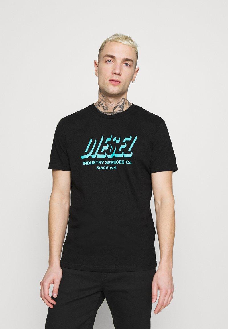 Diesel - DIEGOS UNISEX - Print T-shirt - black