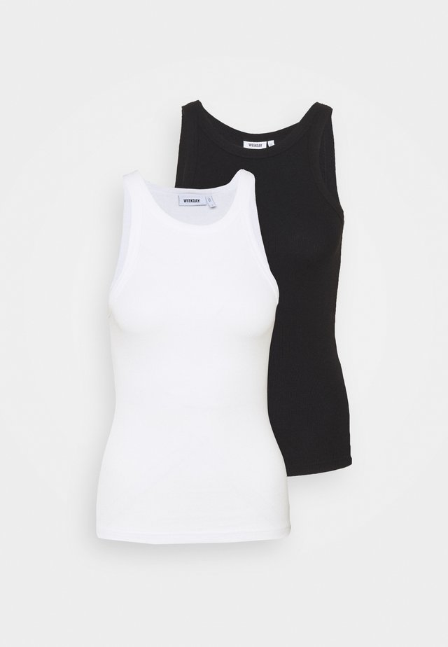 BETH 2 PACK - Top - black /white