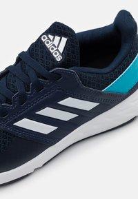 adidas Performance - FORTAFAITO UNISEX - Neutral running shoes - collegiate navy/footwear white/signal cyan - 5