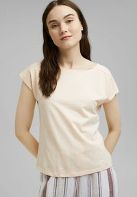 edc by Esprit - BACKTIE - Basic T-shirt - nude - 3