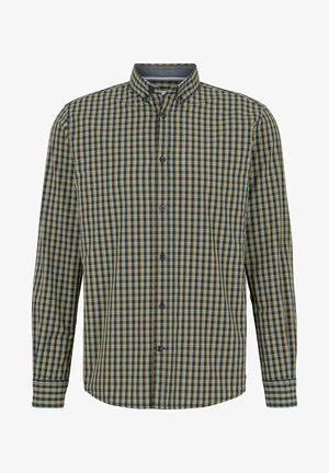 Chemise - blue yellow navy small check