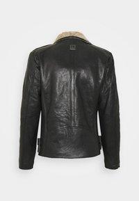 Freaky Nation - BJÖRN - Leather jacket - black/beige - 1