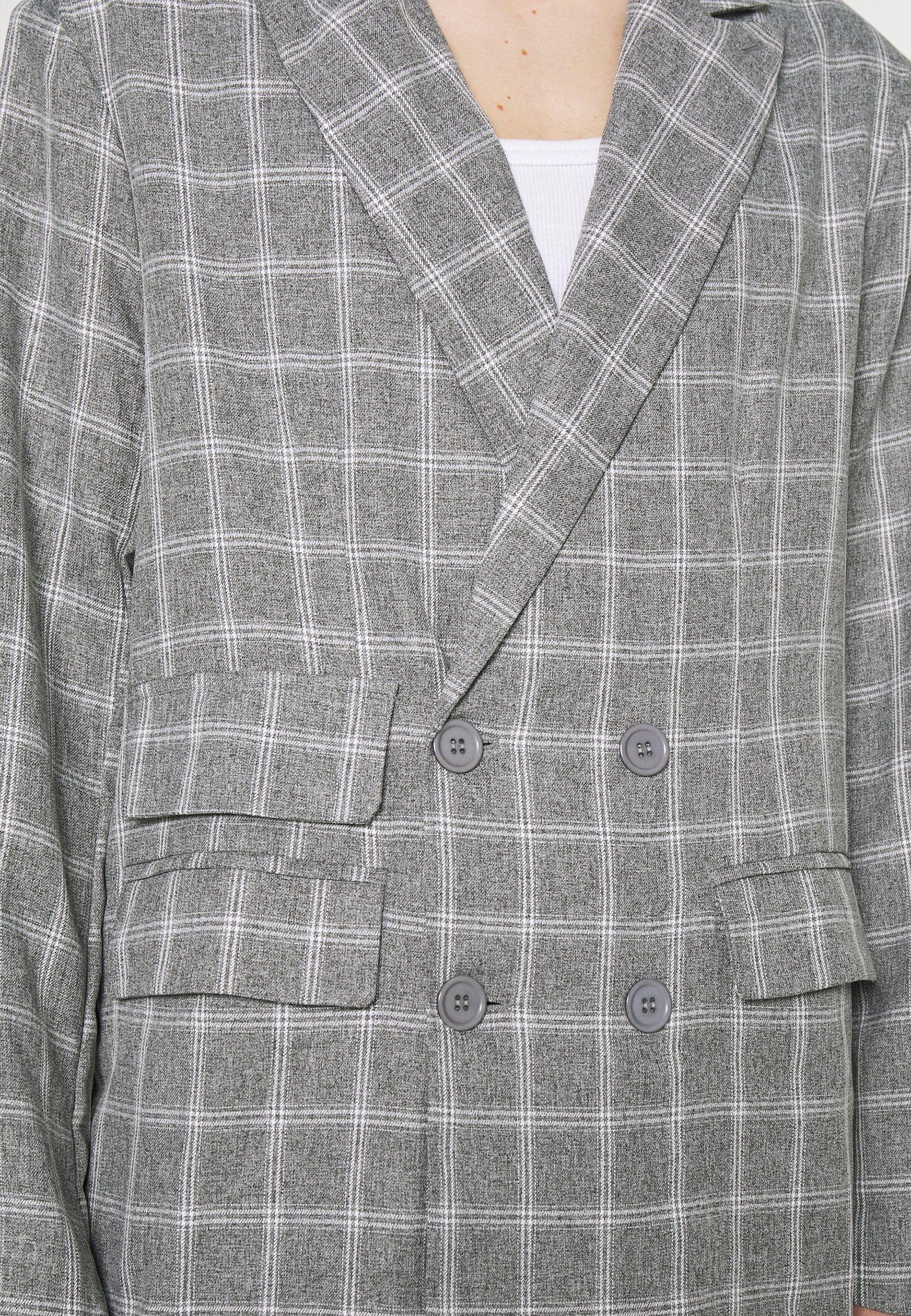 Men BREEZE DOUBLE BREASTED CHECK SUIT JACKET - Blazer jacket