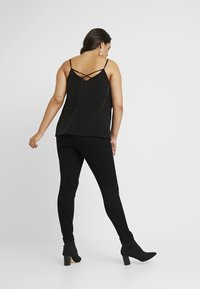 Missguided Plus - RING ZIP OUTLAW - Jeggings - black - 2