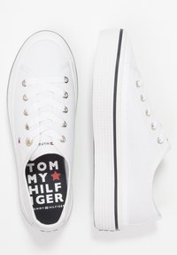Tommy Hilfiger - CORPORATE FLATFORM SNEAKER - Matalavartiset tennarit - white - 3