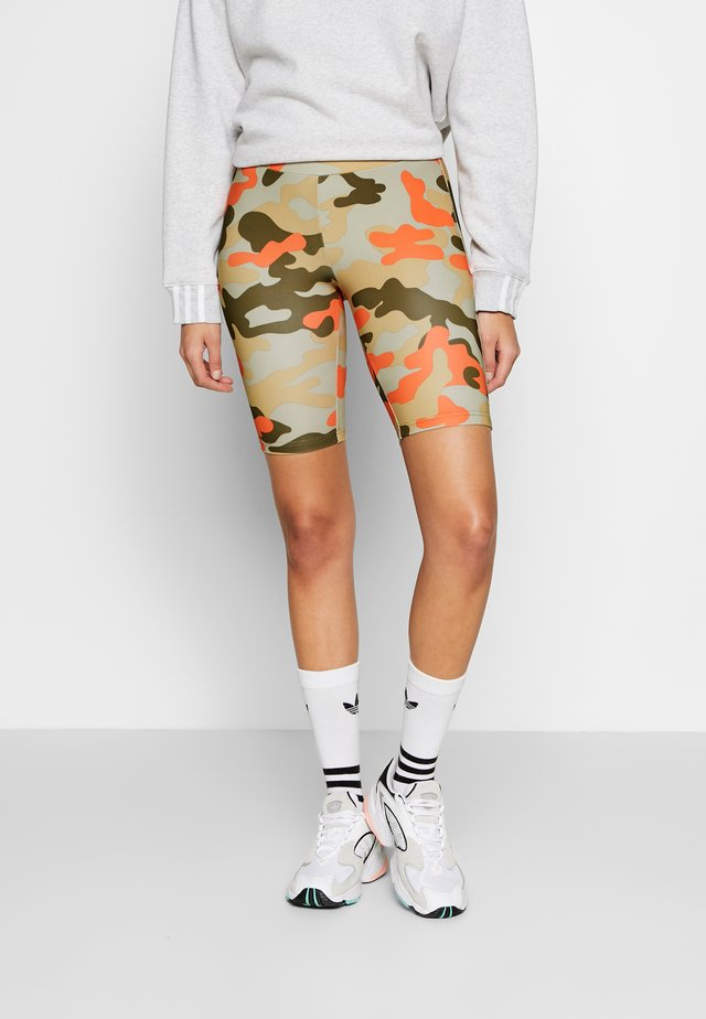 LADIES HIGHWAIST CAMO TECH CYCLE - Shortsit - olive