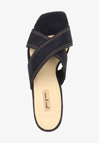 PAUL GREEN PANTOLETTEN - Pantofle na podpatku - blue