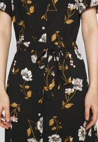 Vero Moda - VMMELLIE LONG SHIRT DRESS - Shirt dress - black/mellie - 5
