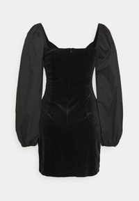 Missguided - WRAP FRONT DRESS - Etuikjole - black - 1