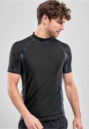 BLACK SHORT SLEEVE - Rash vest - black