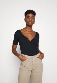 Lee - WRAP TEE - Print T-shirt - black - 0