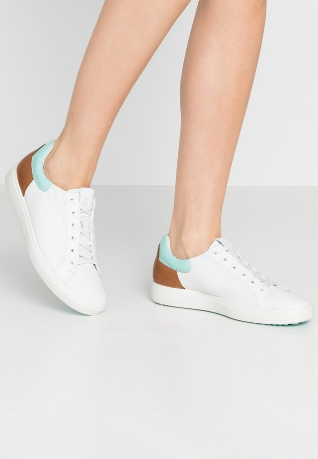 ECCO SOFT 7 W - Sneakers laag - white/eggshall blue/lion