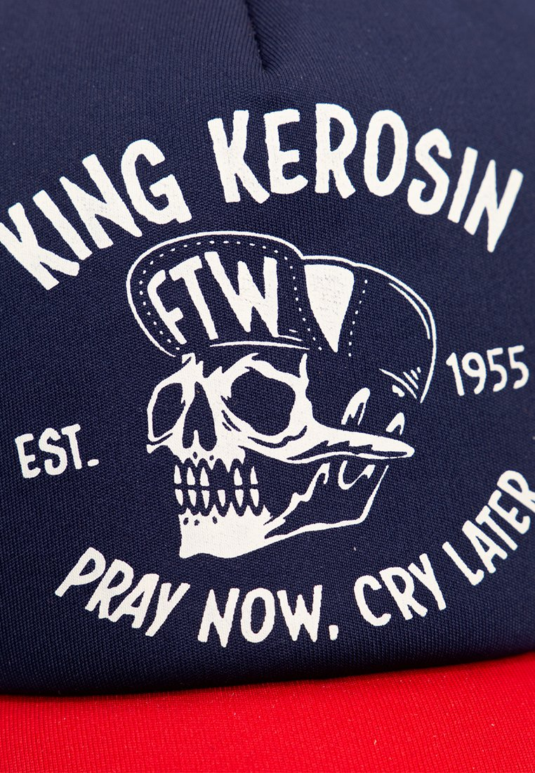 King Kerosin Trucker »pray Now. Cry Later« Mit Kontrastfarbe - Cap Red/rot