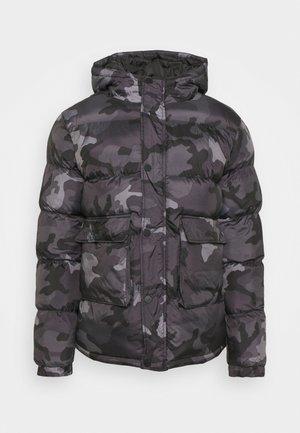 CAMO PUFFER JACKET - Winter jacket - black