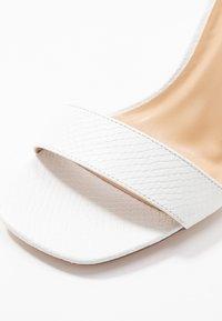 Miss Selfridge Wide Fit - WIDE FIT STEFFI SQAURE TOE BLOCK - High heeled sandals - white - 2