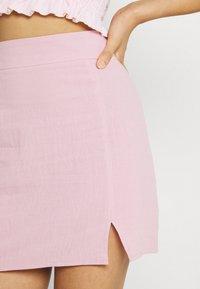 Missguided - SPLIT MINI SKIRT - A-line skjørt - pink - 4