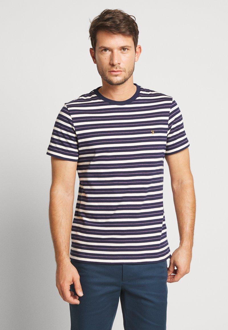 Farah - MANSOUR TEE - T-shirt z nadrukiem - true navy