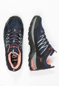 CMP - RIGEL LOW TREKKING SHOE WP - Hiking shoes - blue/giada/peach - 2