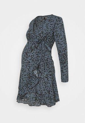 WRAP DRSS DALMTIAN - Day dress - blue