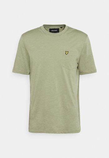 RELAXED POCKET - T-shirt - bas - moss