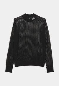 Calvin Klein Jeans - NECK SEE THROUGH  - Jumper - black - 0