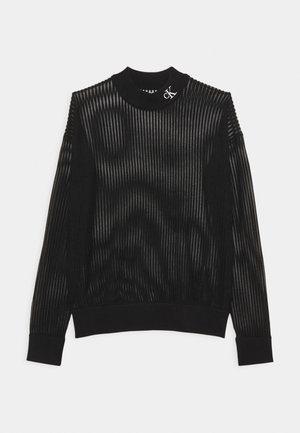 NECK SEE THROUGH  - Jumper - black