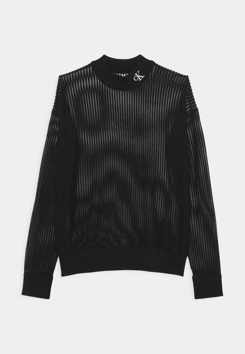 Calvin Klein Jeans - NECK SEE THROUGH  - Jumper - black