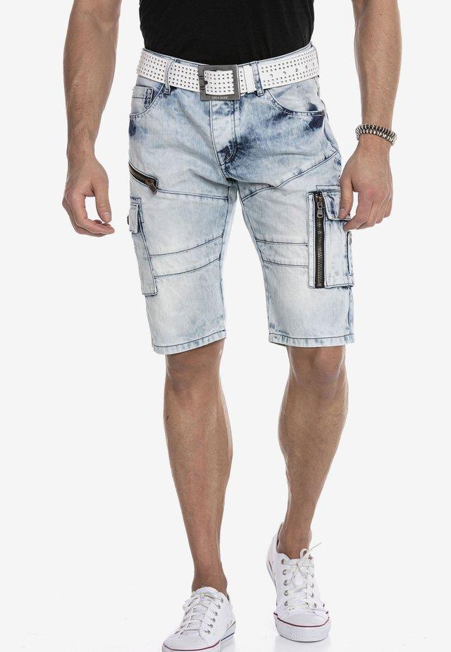 Denim shorts - iceblue