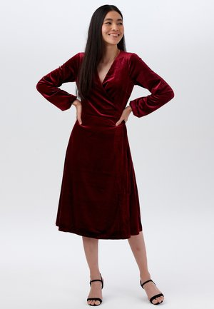 KLARA VELVET - Day dress - burgundy